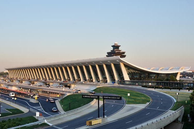 Dulles Airport from outside