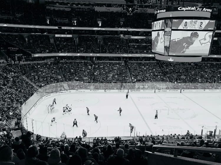 a hockey game takes place at capital one arena
