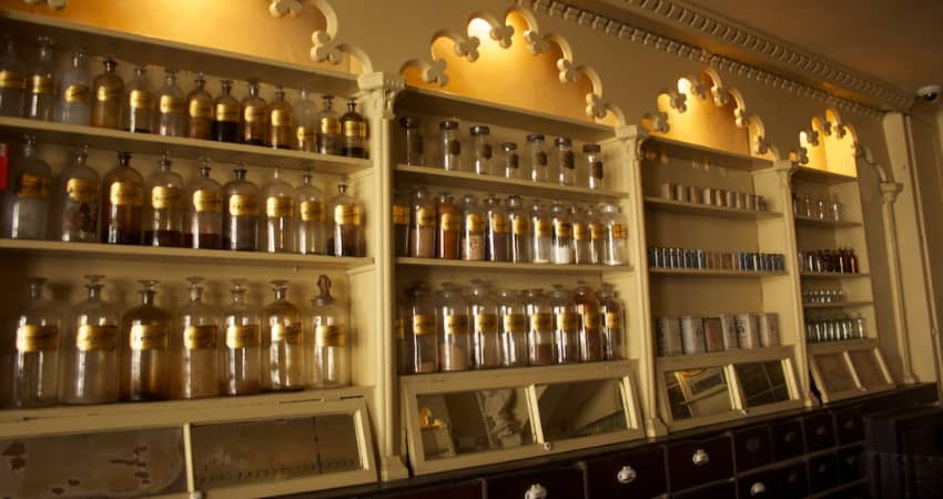 Inside of the Stabler Leadbeater Apothecary Museum in Alexandria