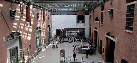interior lobby of the US Holocaust Memorial Museum