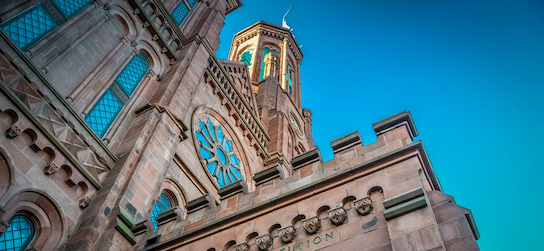 The Smithsonian Institution Building in Washington, DC